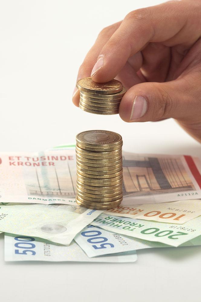 Penge Fjordland økonomi arbejdsløshed mønter sedler